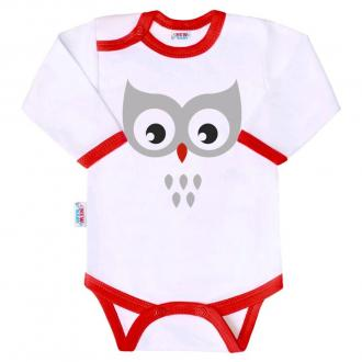 Body s potlačou New Baby Animals sova / 80 (9-12m)